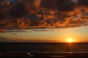 Sonnenuntergang bei Westerland